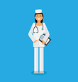 Funny doctor with stethoscope vector image