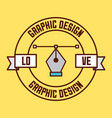 logo graphic design vector image