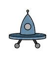 ovni spaceship icon vector image