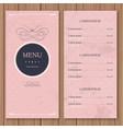 Restaurant or cafe menu design template vintage vector image