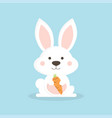 white cute rabbit vector image