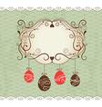 Elegance frame  greeting Easter card vector image