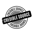 Credible Source rubber stamp vector image vector image