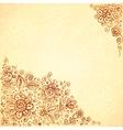 Henna colors flourish artistic background vector image
