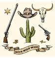 Wild West Elements vector image
