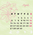 april 2015 flowers vector image vector image