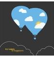 hot air balloon colorful abstract vector image