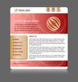 easy customizable website template vector image