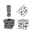 The Cube In Three Variation vector image vector image