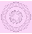 Set of two elegant filigree frames vector image