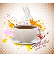 Coffee cup on grunge background vector image