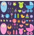 baby girl and boy elements vector image