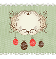Elegance frame greeting Easter card vector image