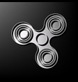 fidget spinner sign gray 3d printed icon vector image