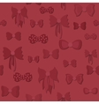 Seamless Pattern with Bows vector image