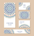 Set of business card banner invitation card vector image