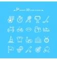 Set of White Icons Sport Equipment vector image