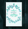 Watercolor card template vector image