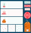 Winter holidays decorations collection vector image