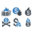 Fire Disaster Flat Icons vector image