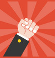 fist and sun ray background vector image