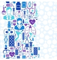 Medical and health care seamless pattern vector image