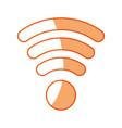silhouette wifi symbol icon design vector image