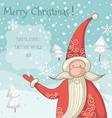 Santa Clause greeting card vector image vector image