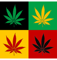 Marijuana-Cannabis-background vector image