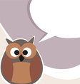Funny cute talking owl vector image vector image