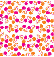 Leavesfruits and Flowers seamless pattern vector image