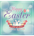 Easter card design template vector image