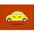 icons taxi card advertising vector image