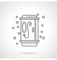 Shower icon flat line design icon vector image