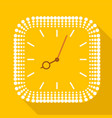 Square clock without numbers icon flat style vector image