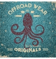 Typography lettering octopus vector image