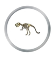 Tyrannosaurus rex icon in cartoon style isolated vector image