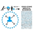 User Relations Icon with 1000 Medical Business vector image