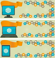 Web Banners with Different Devices vector image