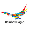 Rainbow Eagle Logo vector image
