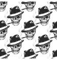 Smoking skull seamless pattern vector image vector image