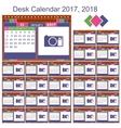 Desk calendar 2017 2018 vector image vector image