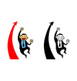 Happy Businessman Reach Sales Target vector image vector image