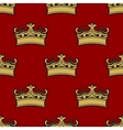 Seamless pattern of golden crowns vector image
