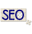 search engine optimization sign vector image