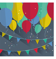 Flat happy Birthday festive background with vector image vector image