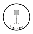 Icon of beauty dish flash vector