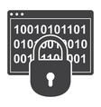 Cryptography science icon vector image