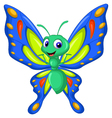 cute butterfly cartoon flying vector image