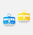 realistic design element tram vector image